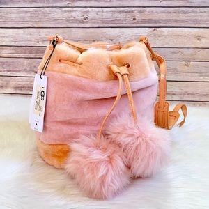 UGG Lidiya Wisp Fuzzy Pom Pom Bucket Bag
